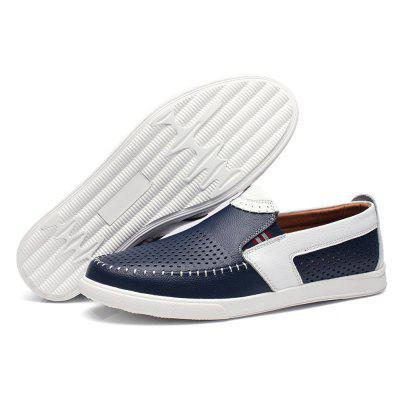 Business Breathable Hollow Slip On Leather ShoesMen's Oxford<br>Business Breathable Hollow Slip On Leather Shoes<br><br>Closure Type: Slip-On<br>Contents: 1 x Pair of Shoes<br>Decoration: Hollow Out,Split Joint<br>Function: Slip Resistant<br>Materials: Rubber, Leather<br>Occasion: Casual, Daily<br>Outsole Material: Rubber<br>Package Size ( L x W x H ): 31.00 x 21.00 x 11.00 cm / 12.2 x 8.27 x 4.33 inches<br>Package Weights: 0.79kg<br>Seasons: Summer<br>Style: Modern, Leisure, Comfortable, Casual, Business<br>Toe Shape: Round Toe<br>Type: Casual Leather Shoes<br>Upper Material: Leather