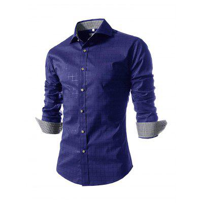 Male Fashion Leisurely Lattice Long Sleeve ShirtMens Shirts<br>Male Fashion Leisurely Lattice Long Sleeve Shirt<br><br>Material: Cotton Blends, Linen<br>Package Contents: 1 x Shirt<br>Package size: 35.00 x 25.00 x 2.00 cm / 13.78 x 9.84 x 0.79 inches<br>Package weight: 0.2800 kg<br>Product weight: 0.2500 kg