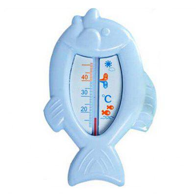 Buy BLUE Baby Bath Cartoon Fish Shape Water Thermometer Toy for $2.43 in GearBest store