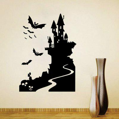 DIY Removable Bat / Castle Decal Wallpaper Wall Sticker