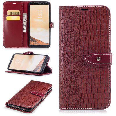 Crocodile Grain PU Leather Phone Cover Case Wallet Pocket for Samsung Galaxy S8