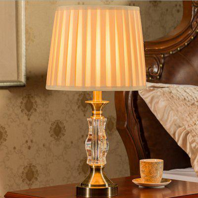 Simple European Crystal Style LED Table Lamp 220V