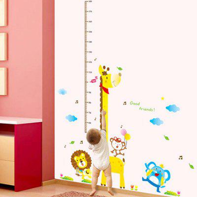 DSU 7015AB DIY Cartoon Animals Decal Height Sticker