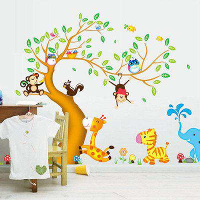 DSU Creative DIY Removable Cartoon Tree Decal Height Sticker