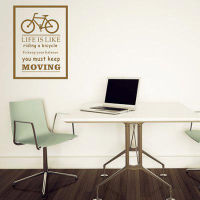 Buy BROWN Creative Bicycle Design DIY Wall Sticker for $8.15 in GearBest store