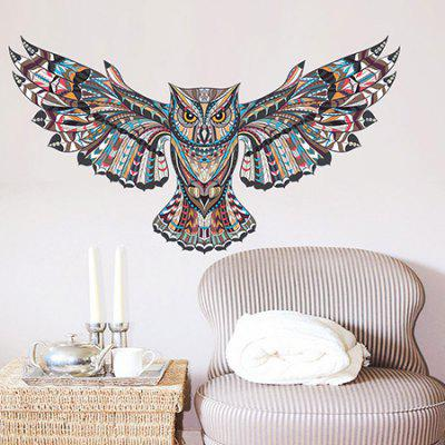 3D Creative Owl Design Wall Sticker