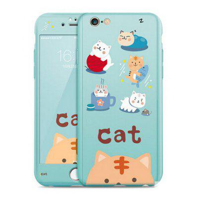 Carefree Cat Image Protective Full Cover Case for iPhone 6 / 6S