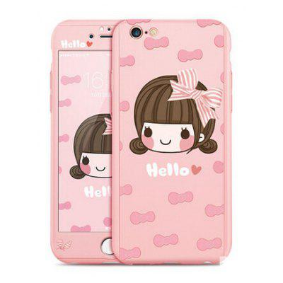 Hello Girl Image Protective Full Cover Case for iPhone 6 / 6S