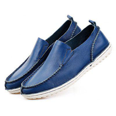Masculino Casual Soft Slip On Stitching Oxford Boat Shoes