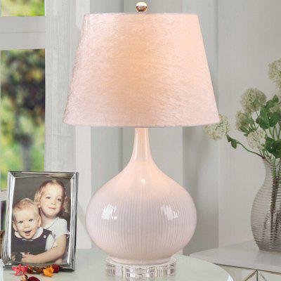 European Simple Ceramic Style LED Table Lamp 220V