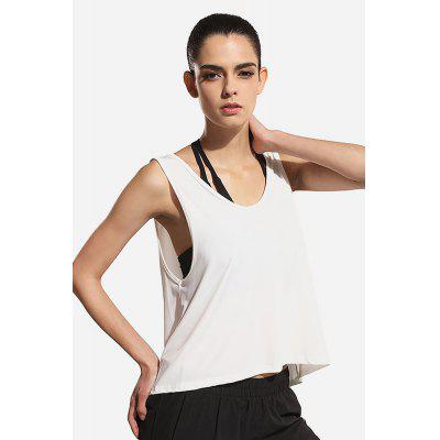 Women Backless Quick-dry Yoga Tank Top esportivo