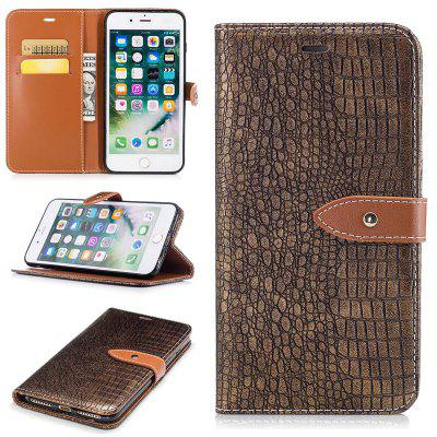 Crocodile Grain PU Leather Wallet Phone Case for iPhone 6 / 6s
