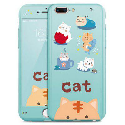Leisure Cat Shockproof PC Full Cover Case for iPhone 7 Plus