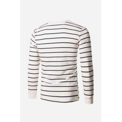 Male Comfortable Casual Striped Round Collar Long Sleeve T-shirtMens Long Sleeves Tees<br>Male Comfortable Casual Striped Round Collar Long Sleeve T-shirt<br><br>Package Contents: 1 x Long T-shirt<br>Package size: 20.00 x 20.00 x 2.00 cm / 7.87 x 7.87 x 0.79 inches<br>Package weight: 0.3600 kg<br>Product weight: 0.3000 kg