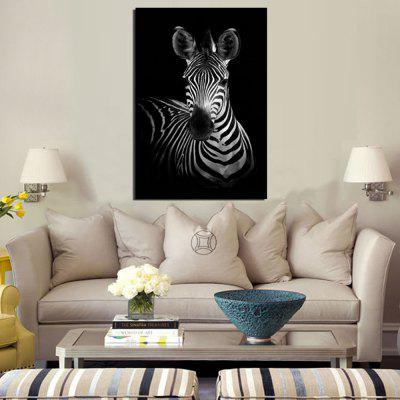 1PC Simple Style Zebra Printed Canvas Wall Sticker