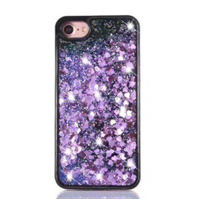 Fashion Paillette Stars Pattern 3D Hourglass Flowing Design PC Case for iPhone 7