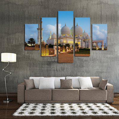 Buy COLORMIX 5PCS Taj Mahal Landscape Printed Canvas Wall Sticker for $18.97 in GearBest store