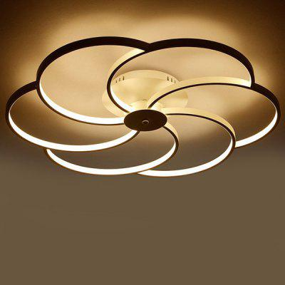 Post-modern Style Flower Pattern LED Ceiling Light 220V