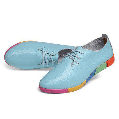 Women Leisure Soft-soled Flat ShoesWomens Sneakers<br>Women Leisure Soft-soled Flat Shoes<br><br>Contents: 1 x Pair of Women Shoes<br>Materials: PU, Rubber<br>Occasion: Shopping, Holiday, Daily, Casual<br>Outsole Material: Rubber<br>Package Size ( L x W x H ): 25.00 x 18.00 x 11.00 cm / 9.84 x 7.09 x 4.33 inches<br>Package Weights: 0.58 kg<br>Pattern Type: Solid<br>Seasons: Autumn,Spring<br>Style: Leisure, Fashion, Comfortable, Casual<br>Toe Shape: Pointed Toe<br>Type: Flat Shoes<br>Upper Material: PU
