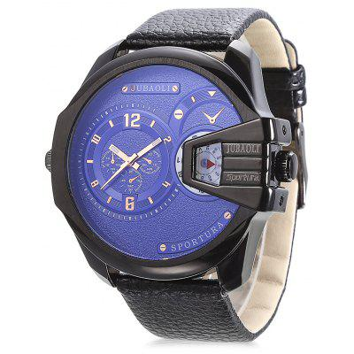 Buy BLUE JUBAOLI 9905 Dual Movt Leather Band Men Watch for $15.90 in GearBest store