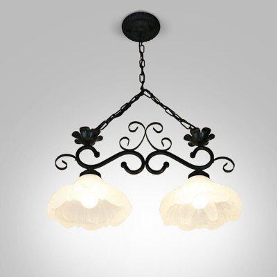European Style Rural Retro Iron Chandelier 220V