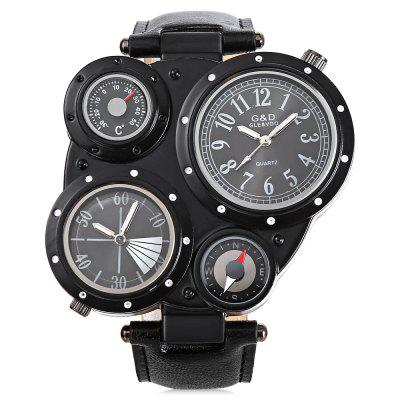 GND 4011 Dual Movt Leather Band Men WatchMens Watches<br>GND 4011 Dual Movt Leather Band Men Watch<br><br>Band material: Leather<br>Band size: 24 x 2.4cm<br>Brand: GND<br>Case material: Alloy<br>Clasp type: Pin buckle<br>Dial size: 5.5 x 5.5 x 1 cm<br>Display type: Analog<br>Movement type: Quartz watch<br>Package Contents: 1 x Watch, 1 x Box<br>Package size (L x W x H): 8.50 x 8.00 x 5.30 cm / 3.35 x 3.15 x 2.09 inches<br>Package weight: 0.1500 kg<br>Product weight: 0.0950 kg<br>Shape of the dial: Irregular<br>Watch mirror: Acrylic<br>Watch style: Fashion<br>Watches categories: Men<br>Wearable length: 17.5 - 21.5cm