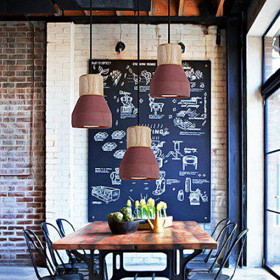 Nordic Industrial Style Creative Cement Pendant Light 220VPendant Light<br>Nordic Industrial Style Creative Cement Pendant Light 220V<br><br>Battery Included: No<br>Bulb Base: E27<br>Bulb Included: No<br>Chain / Cord Adjustable or Not: Chain / Cord Adjustable<br>Chain / Cord Length ( CM ): 120<br>Features: Eye Protection<br>Fixture Height ( CM ): 16<br>Fixture Length ( CM ): 12.5<br>Fixture Width ( CM ): 12.5<br>Light Direction: Downlight<br>Number of Bulb: 1 Bulb<br>Number of Bulb Sockets: 1<br>Package Contents: 1 x Light, 1 x Assembly Parts<br>Package size (L x W x H): 22.50 x 22.50 x 20.00 cm / 8.86 x 8.86 x 7.87 inches<br>Package weight: 5.0300 kg<br>Product weight: 3.0000 kg<br>Remote Control Supported: No<br>Shade Material: Wood<br>Style: Modern/Contemporary<br>Suggested Room Size: 10 - 15?<br>Suggested Space Fit: Bathroom,Bedroom,Dining Room,Kitchen,Living Room,Study Room<br>Type: Pendant Light<br>Voltage ( V ): AC220