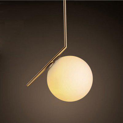 Post-modern Iron Glass Ball Pendant Light 220V