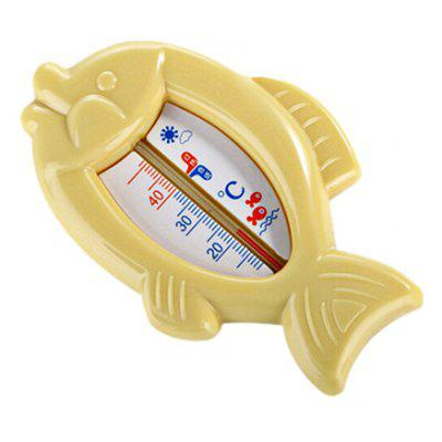 Buy YELLOW Baby Bath Cartoon Fish Shape Water Thermometer Toy for $2.43 in GearBest store