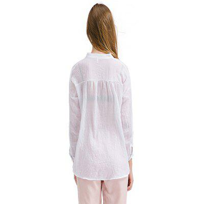 Loose Cotton Flax Women BlouseBlouses<br>Loose Cotton Flax Women Blouse<br><br>Collar: V-Neck<br>Elasticity: Micro-elastic<br>Material: Cotton, Linen<br>Package Content: 1 x Women Blouse<br>Package size (L x W x H): 35.00 x 28.00 x 2.00 cm / 13.78 x 11.02 x 0.79 inches<br>Package weight: 0.1300 kg<br>Pattern Type: Solid<br>Product weight: 0.1150 kg<br>Season: Fall, Summer, Spring<br>Shirt Length: Regular<br>Sleeve Length: Long Sleeves<br>Style: Casual