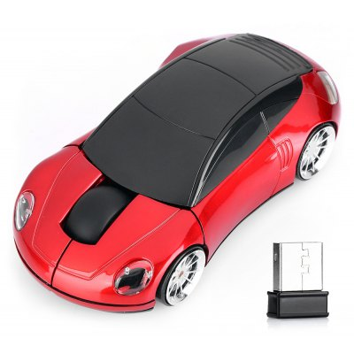 Racing Car Shape 2.4Ghz Wireless Mouse - Red