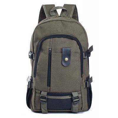 Gearbest Men Outdoor Trendy Canvas Travel Backpack  -  ARMY GREEN