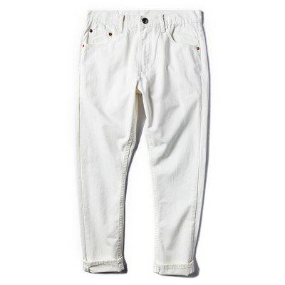 Casual Pockets Ninth Pants for Men