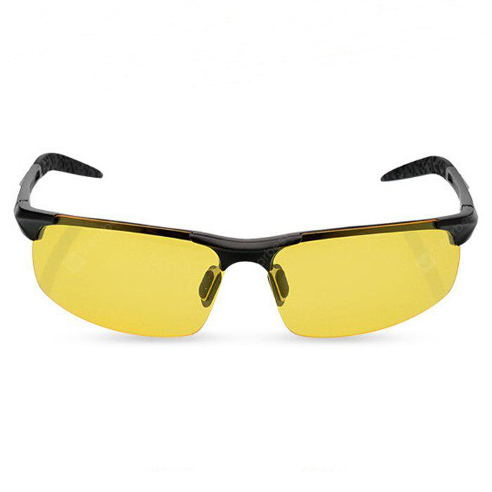 BLACK 8177 Night Vision Half-frame Polarized Lens Cycling Glasses