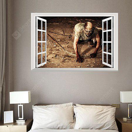Creative DIY 3D Effect Removable Creeping Zombie Wall Sticker