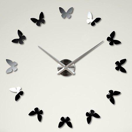 M.Sparkling 3M015 DIY 3D Acrylic Butterfly Mirror Wall Clock