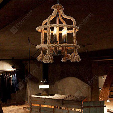 E14 5 Branches Creative Industrial Retro Pendant Lamp 220V