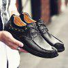 Classic Slip Resistance Stitching Oxford Shoes  for Men - BLACK