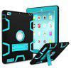 Armor Kickstand Holder Silicone Tablet Case for iPad Air - BLUE AND BLACK