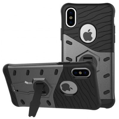 Buy BLACK TPU Bumper PC Cover Kickstand Phone Case for iPhone 8 for $3.79 in GearBest store