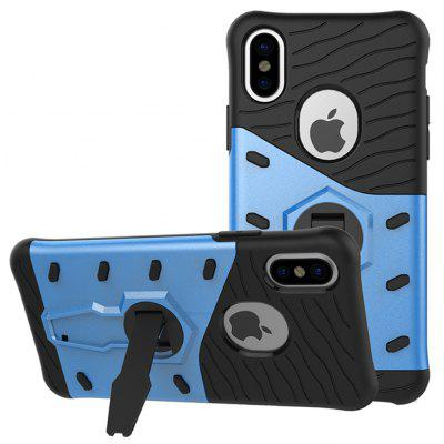 Buy BLUE TPU Bumper PC Cover Kickstand Phone Case for iPhone 8 for $5.80 in GearBest store