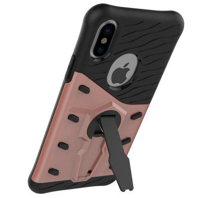 TPU Bumper PC Cover Kickstand Phone Case for iPhone 8iPhone Cases/Covers<br>TPU Bumper PC Cover Kickstand Phone Case for iPhone 8<br><br>Compatible for Apple: iPhone 8<br>Features: Anti-knock, Back Cover, Cases with Stand<br>Material: PC, TPU<br>Package Contents: 1 x Phone Case<br>Package size (L x W x H): 16.00 x 9.00 x 2.30 cm / 6.3 x 3.54 x 0.91 inches<br>Package weight: 0.0750 kg<br>Product size (L x W x H): 14.80 x 7.60 x 1.30 cm / 5.83 x 2.99 x 0.51 inches<br>Product weight: 0.0500 kg<br>Style: Cool, Contrast Color, Pattern, Ultra Slim, Modern
