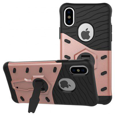 Buy ROSE GOLD TPU Bumper PC Cover Kickstand Phone Case for iPhone 8 for $5.80 in GearBest store