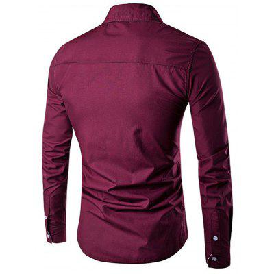 Men Casual Button Down Long Sleeve Striped ShirtMens Shirts<br>Men Casual Button Down Long Sleeve Striped Shirt<br><br>Material: Cotton, Polyester<br>Package Contents: 1 x Shirt<br>Package size: 40.00 x 30.00 x 3.00 cm / 15.75 x 11.81 x 1.18 inches<br>Package weight: 0.3100 kg<br>Product weight: 0.2500 kg