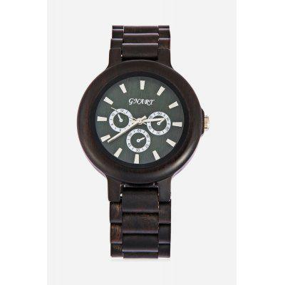 GNART Men Ebony Case Quartz Watch
