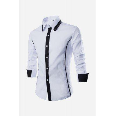 Buy WHITE Men Casual Fashionable Classical Long Sleeve Shirt for $18.66 in GearBest store