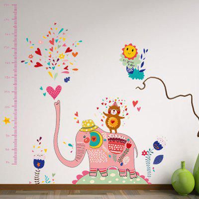 DSU Kids Room Elephant Spray Water Height Sticker