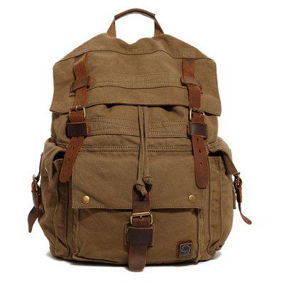 Men Retro Canvas Backpack