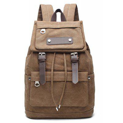 Men Canvas Travel Backpack