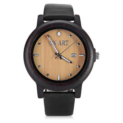 GNART Men Luminous Pointer Quartz Watch